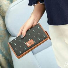 Jims Honey Dolly Floral Wallet - Dompet Fashion Wanita (Black)