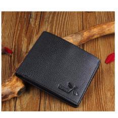 JK Dompet Pria Short - Premium PU Leather - Black