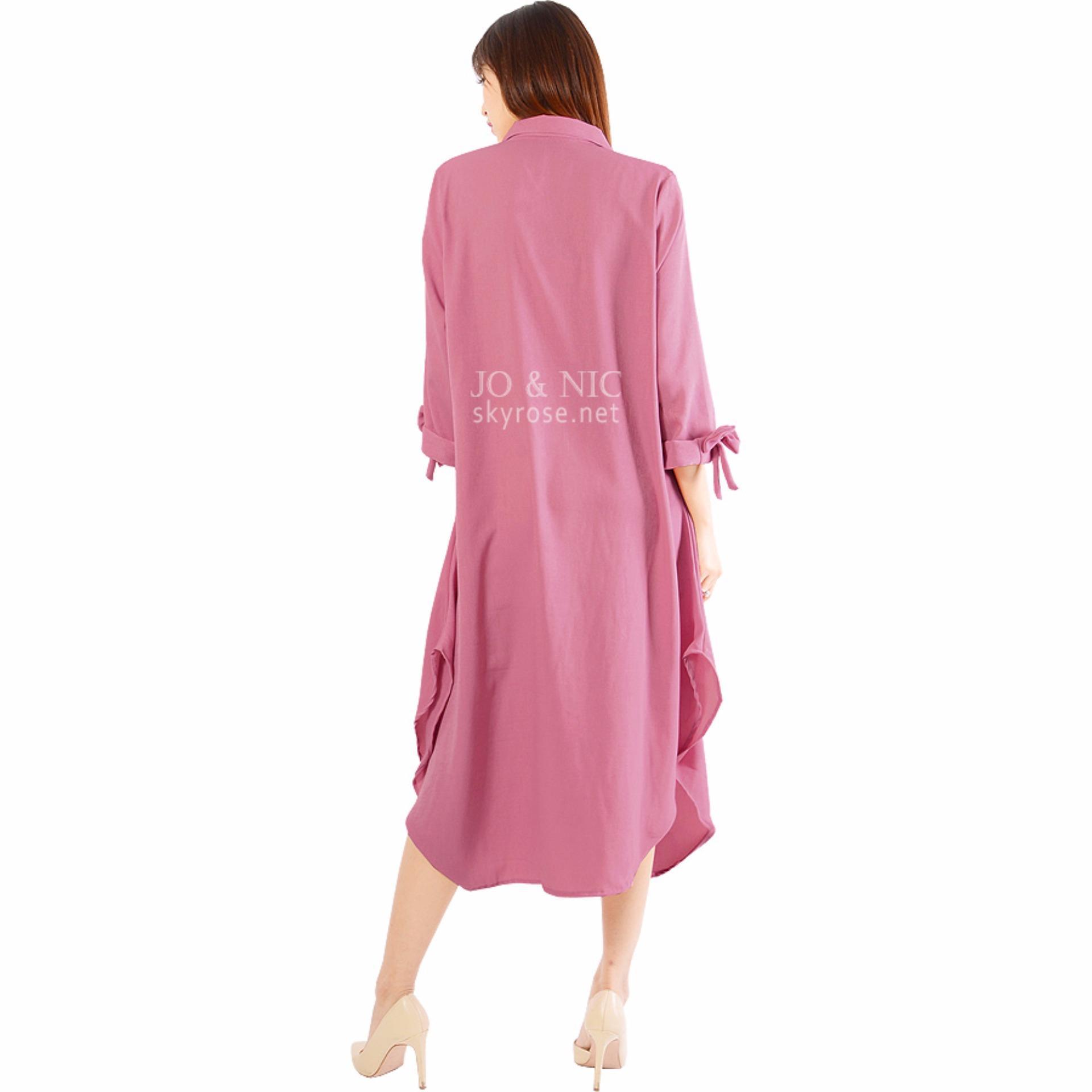 Jo Nic Ashley Dress Tunik Lengan Pita Beige Daftar Harga Bodytalk Panjang Black And Red 74019t6br Hitam M Hijab Wanita Allsize Pink