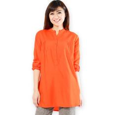 JO & NIC Kemeja Tunik Lengan Panjang 3 size M/L/XL - Orange