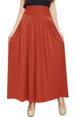JO & NIC Pleated Flare Maxi Skirt - Rok Hijab - Fit to Big Size - Brick