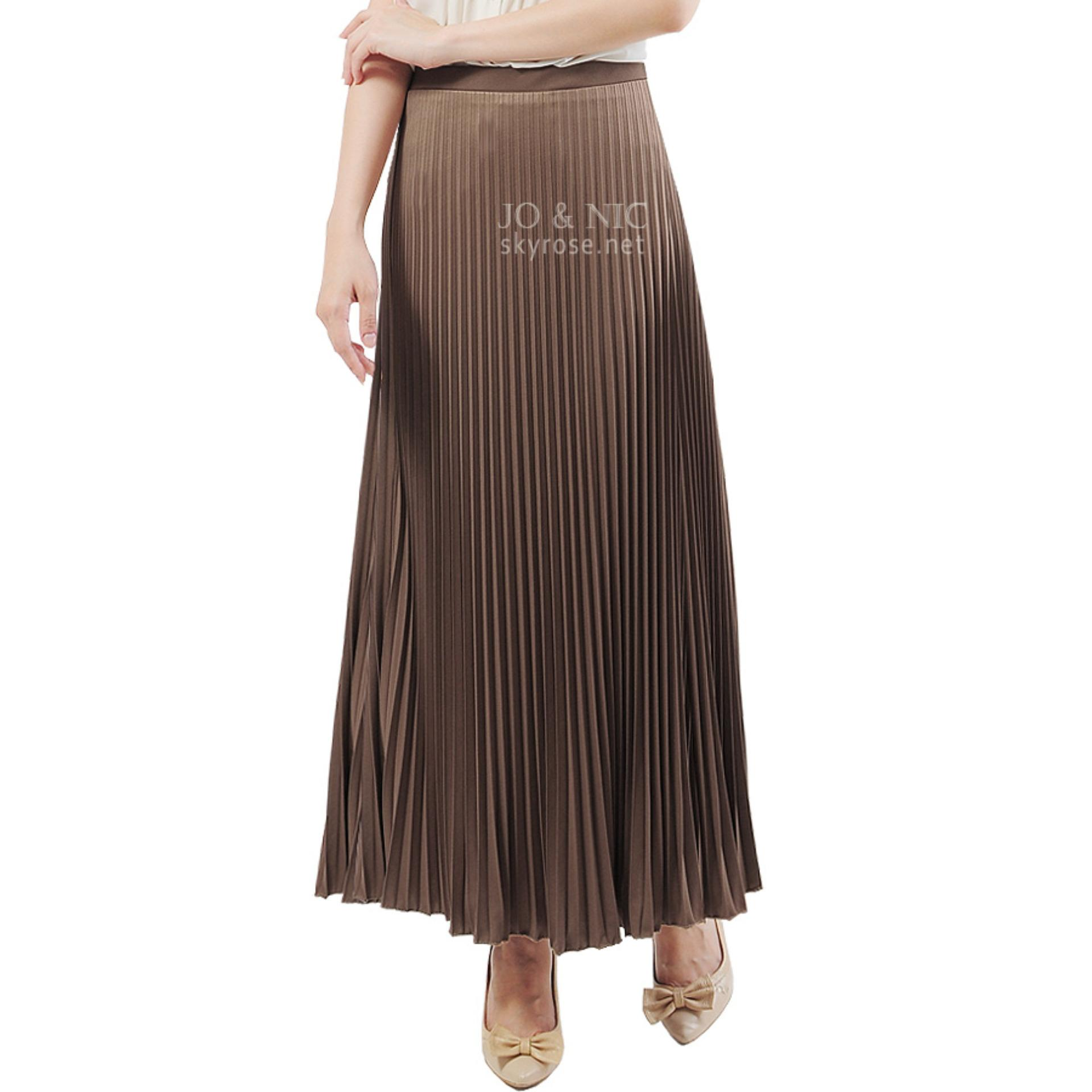 Jo Nic A Line Maxi Skirt Rok Hijab Fit To Xl Milo Daftar Harga Wrapped Long Btnl70254 Pleated Skirts Panjang Lipit