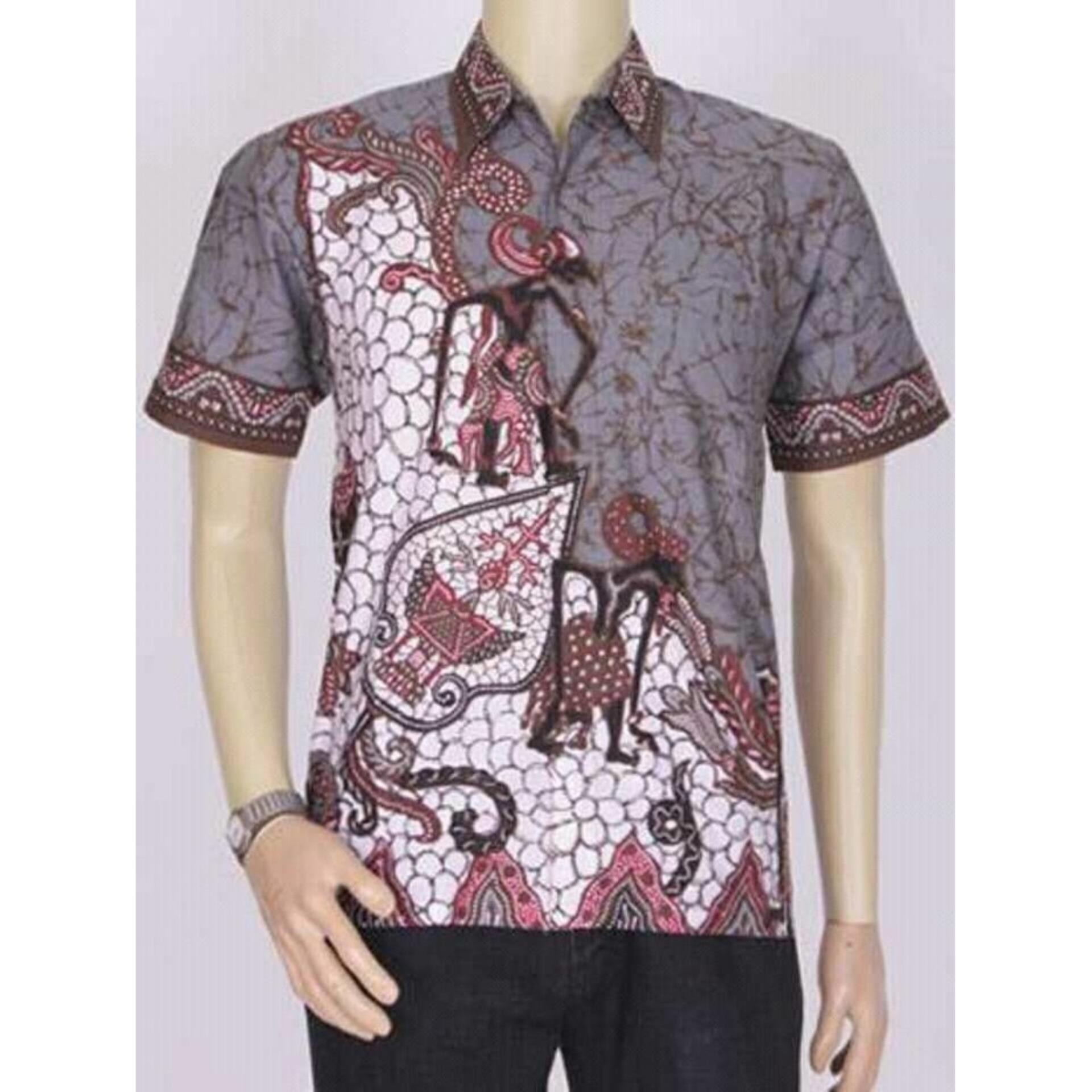 Formal Oke Jual Baju Batik Pria Baju Batik Modern Kemeja Batik Pekalongan  Hem Batik Kemeja Motif Wayang Tumpuk 5c3b39d81f