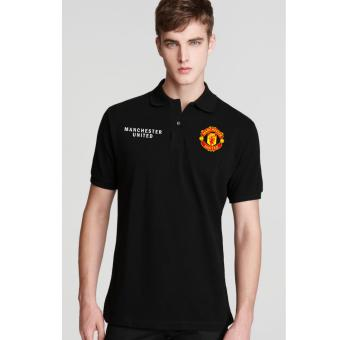 Just Cloth Kaos Polo Soccer Manchester United - Hitam