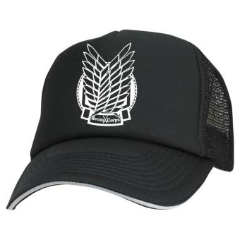 Just Cloth Topi Trucker Attack On Titan - Hitam