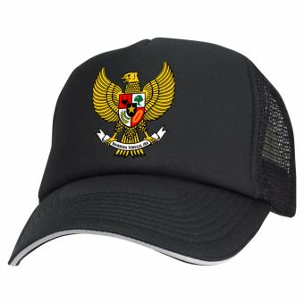 Just Cloth Topi Trucker Indonesia Garuda - Hitam