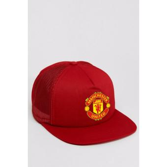 Just Cloth Topi Trucker Snapback The Red Devils Manchester United -Merah