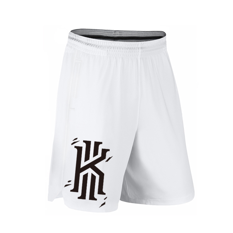 K polyester Musim Panas No 2 celana pendek basket pria (Besar K # Putih (