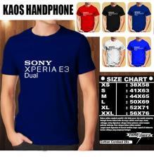 Kaos Gadget HP Distro Baju T-Shirt Handphone SONY Xperia E3 Dual Logo Font