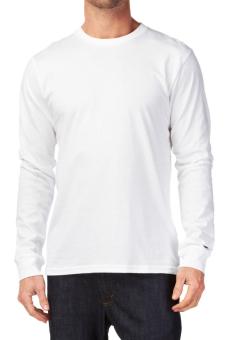 Kaos Polos O-Neck Cotton Combed 20s Lengan Panjang - Putih