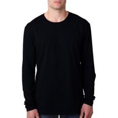 KaosBRO Kaos T-Shirt O-Neck Lengan Panjang Slim - Hitam