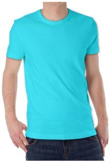 KaosYES Kaos T-Shirt O-Neck Lengan Pendek - Biru Muda - 2