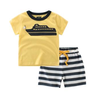 Kapas bayi musim panas baru anak laki-laki celana versi Korea dari t-shirt