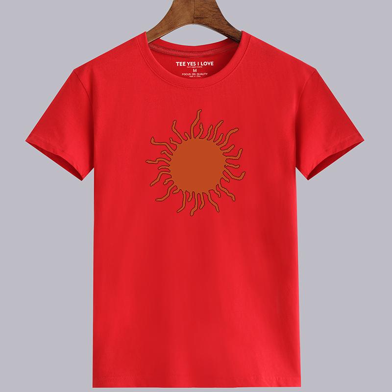 Flash Sale Kapas laki-laki leher bulat longgar t-shirt musim panas lengan pendek