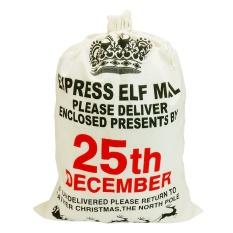 Kapasitas Besar Drawstring Tas Natal Santa Sack Malam Natal Tas Kado Xmas Stocking Present Bag 20x27.5 Inch Gaya Mahkota- INTL