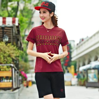 Harga Kasual Musim Panas Celana Pendek Olahraga Untuk Pria Dan Wanita (Anggur perempuan) (Anggur perempuan) Murah