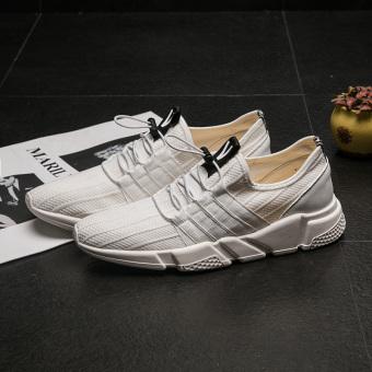Kasual pria baru jala sepatu pria sepatu sepatu (Putih)