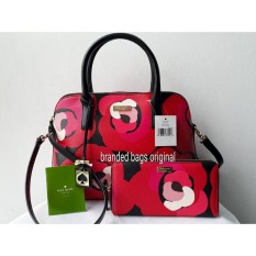 Kate Spade Rachelle Deco Red Rose And wallet (SET) AUTHENTIC ORIGINAL