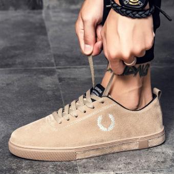 Jual Kebugaran kasual musim gugur baru pria pria sepatu (Khaki) Online 45c367a1e8