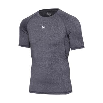 Harga Kebugaran luar ruangan leher bulat peregangan lengan pendek kebugaran pakaian t-shirt (Bunga Hitam) (Bunga Hitam) Murah