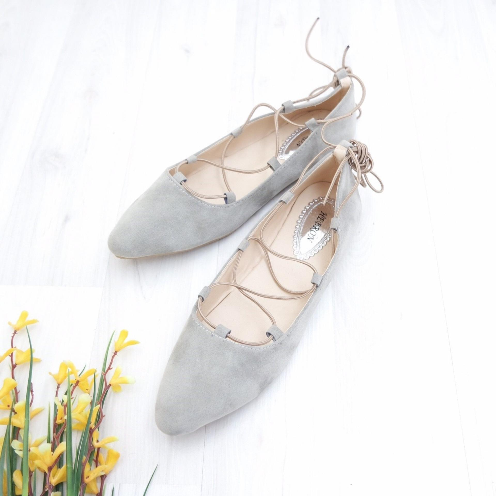 KelinciMadu-Ballerina Flatshoes-Grey .