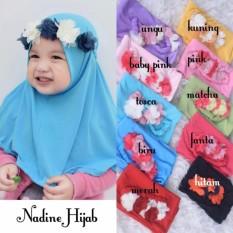 Kerudung Anak Bayi Nadine / Jilbab Anak Bayi / Jilbab Bayi / Hijab Pashmina Instan Anak