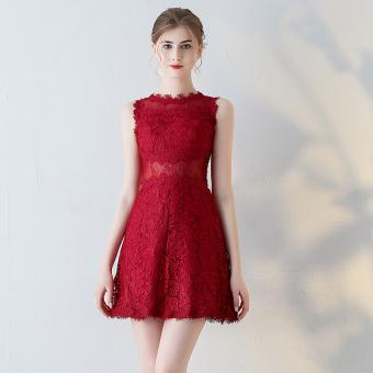 Review of Keyi Te Korea Fashion Style Perempuan Baru Tanpa Lengan Baju Pelayanan Baju Malam Gaun