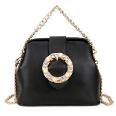 KGS Tas Pesta Wanita Formal Pretty Buckle Hitam