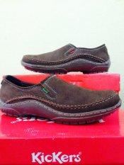Harga Termurah Kickers Sepatu Pria Kulit Asli Model KR 666 Black ... 0a78a2199b