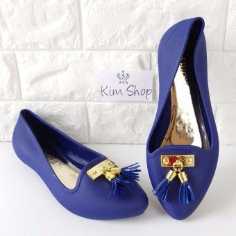 Kim Sepatu Jelly Shoes Wanita 1709 - Navy