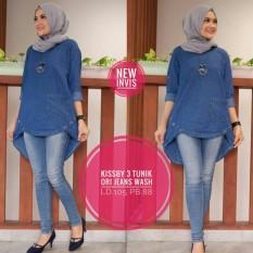 Kissby 3 Jeans Blouse - Baju Atasan Wanita Murah