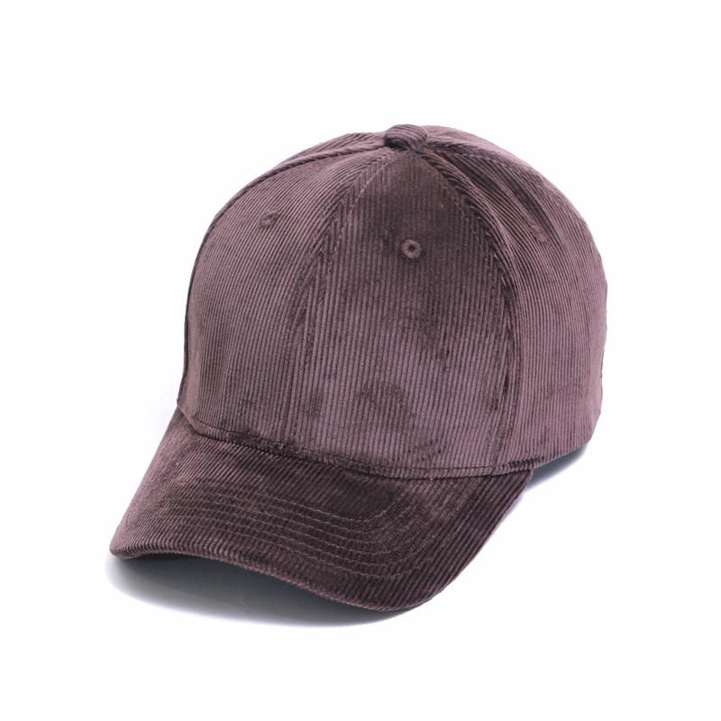 Klasik Jalan bordir warna solid pria dan wanita topi topi topi bisbol  (Coklat gelap) c85b9ac4bd
