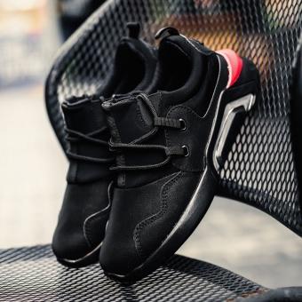 Korea Fashion Style berjalan sepatu sepatu pasang sepatu (Hitam)