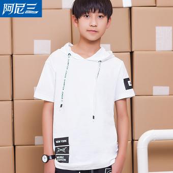 Jual Korea Fashion Style Darah Anak Laki Laki Remaja Musim Panas Lengan Pendek T Shirt Putih