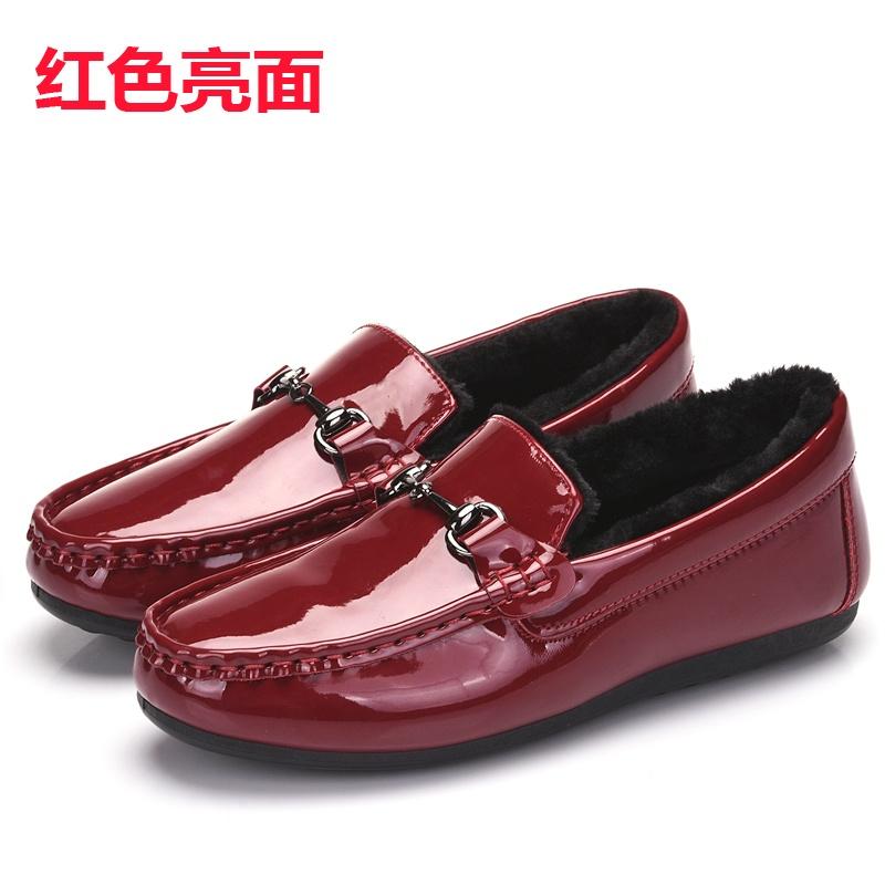 Flash Sale Korea Fashion Style ditambah beludru wanita yang hangat perempuan berlapis kapas sepatu Peas sepatu