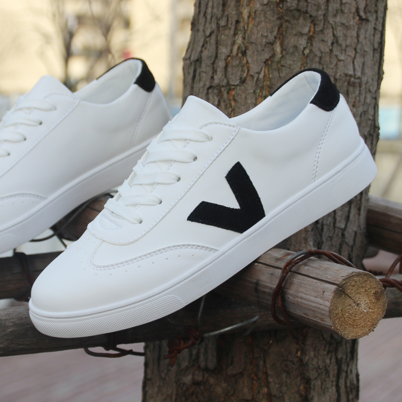 Korea Fashion Style kanvas putih anak laki-laki sepatu pasang sepatu flat  (Model laki 914a648ae1