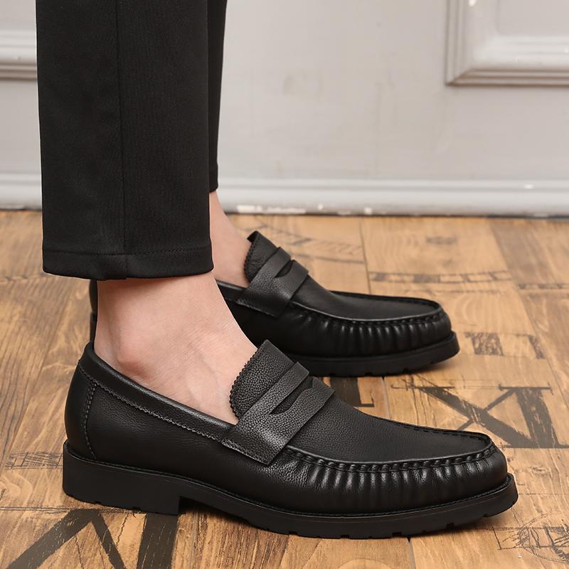 Flash Sale Korea Fashion Style kulit muda pedal sepatu pria sepatu kulit  pria (Hitam) 23412b0fb9