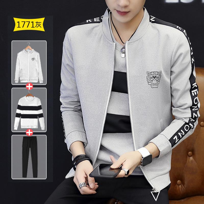 Korea Fashion Style mahasiswa baru di musim semi dan musim gugur laki-laki jaket (