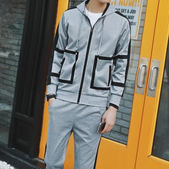 Jual Kebugaran Remaja Model Laki Laki Sweater Abu Abu 005 Di Online Store