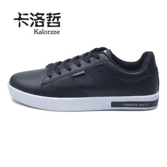 Beli Korea Fashion Style muda bernapas untuk membantu sepatu rendah sepatu  kasual sepatu olahraga (Model laki-laki + Hitam) Terpercaya c031b9bb60