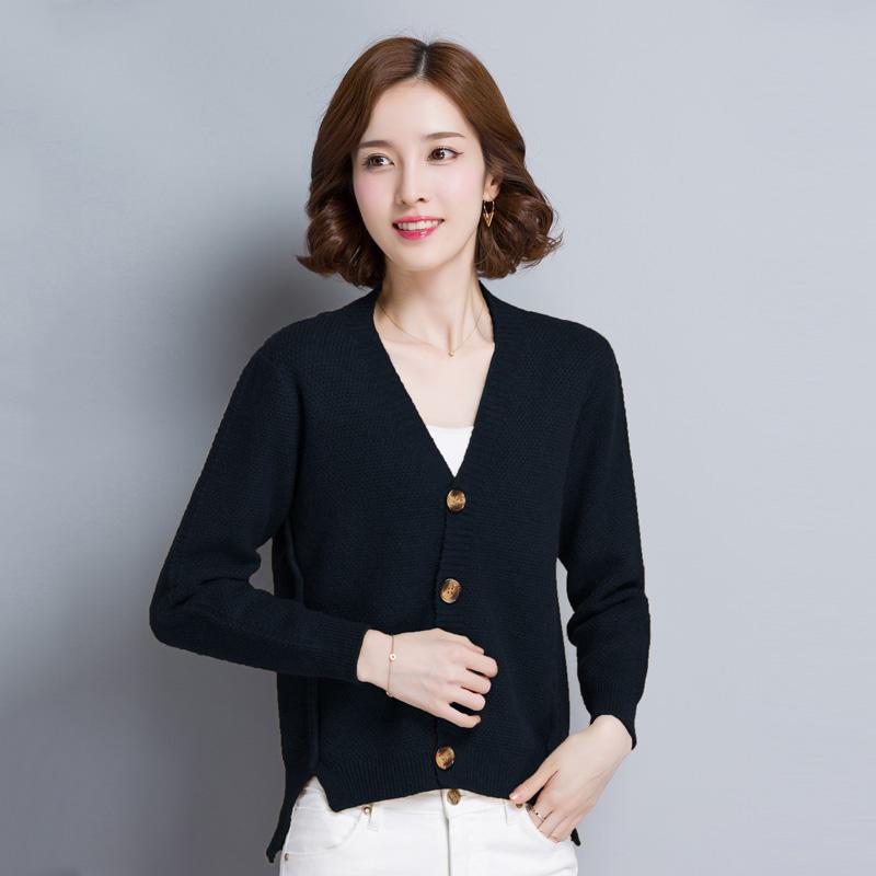 Korea Fashion Style musim gugur baru LOOESN merajut kemeja (YM59021 biru tua )