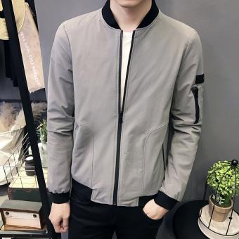 Jual Korea Fashion Style Musim Gugur Baru Slim Pakaian Pria Jaket Jaket Pria Biru Tua Di