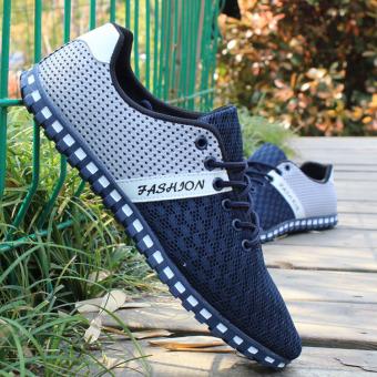 Harga Penawaran Korea Fashion Style musim panas pria baru kebugaran sepatu kasual sepatu bersih (808