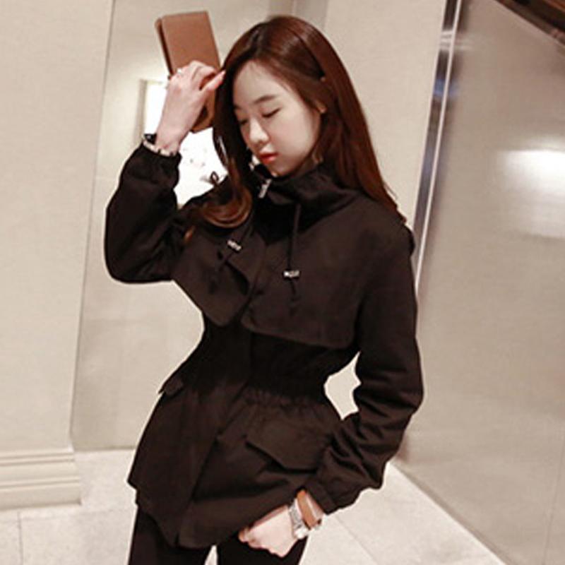 ... Flash Sale Korea Fashion Style musim semi dan musim gugur Perempuan baru jaket pendek jas Hitam