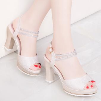 Gambar Korea Fashion Style musim semi dan musim panas baru sepatu hak  tinggi perempuan (Model 56cbbfd8da