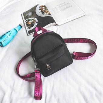 Korea Fashion Style Oxford kain baru Mini tas wanita kecil tas ransel (Mawar merah)