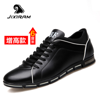 Beli Korea Fashion Style Peninggi 6 Cm Board Sepatu Sepatu Sekolah (Hitam peninggi model) Online