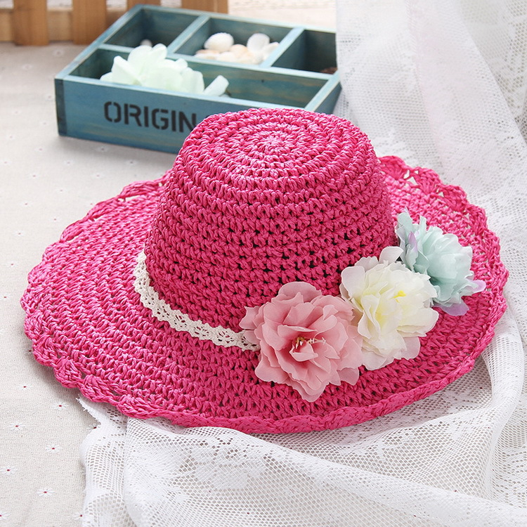 Flash Sale Korea Fashion Style perempuan anak perempuan pantai topi topi  jerami anak-anak ( 1ce2ba27e9