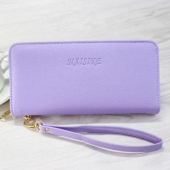 Korea Fashion Style perempuan baru multifungsi dompet dompet kartu tas Clutch (Ungu amisike)