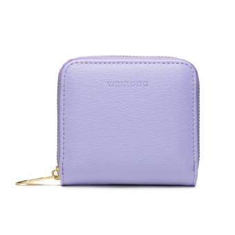 Korea Fashion Style perempuan wanita ritsleting nol dompet dompet kecil ( Ungu)